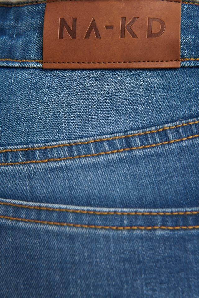 Skinny Low Waist Jeans Mid Blue