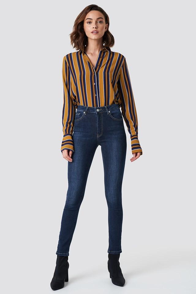 Skinny Mid Waist Jeans NA-KD
