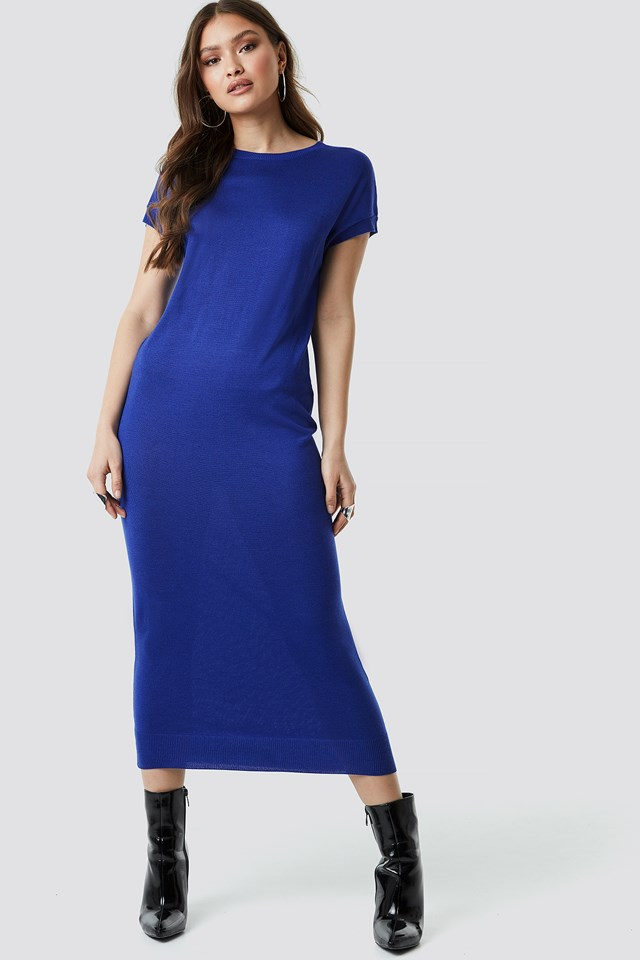 Sleeveless Midi Knit Dress NA-KD