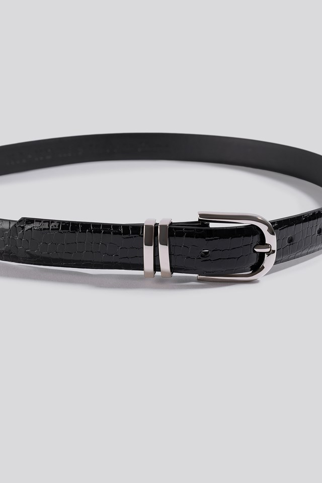 Slim Snake Look Belt Black