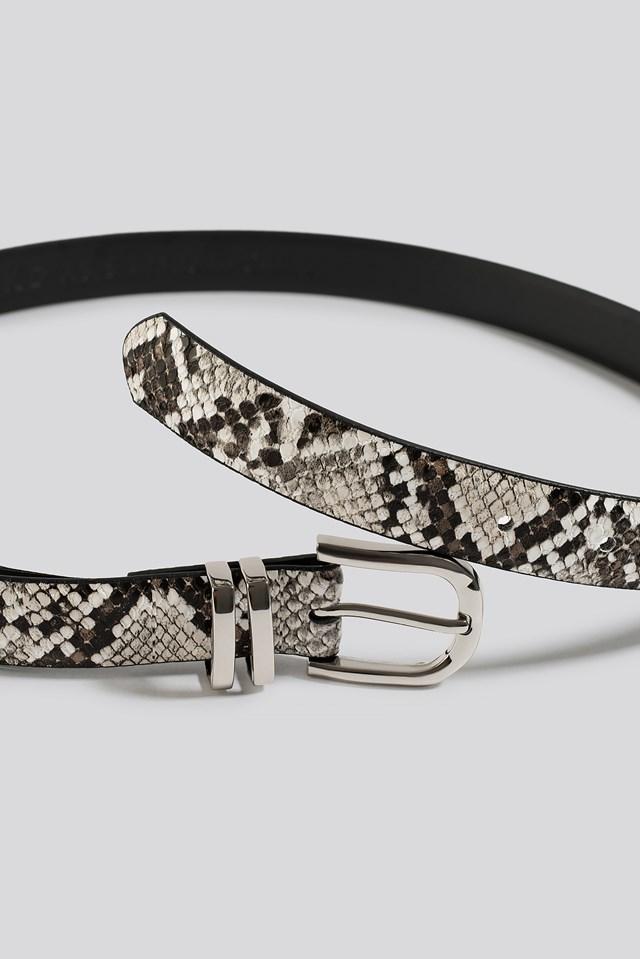 Slim Snake Look Belt Natural