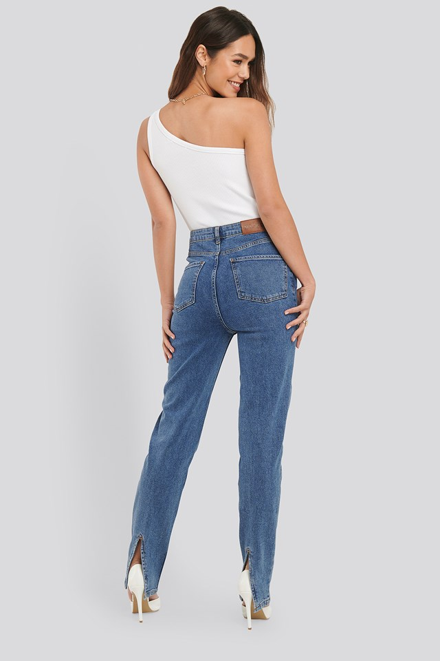 Slit Back Denim NA-KD Trend