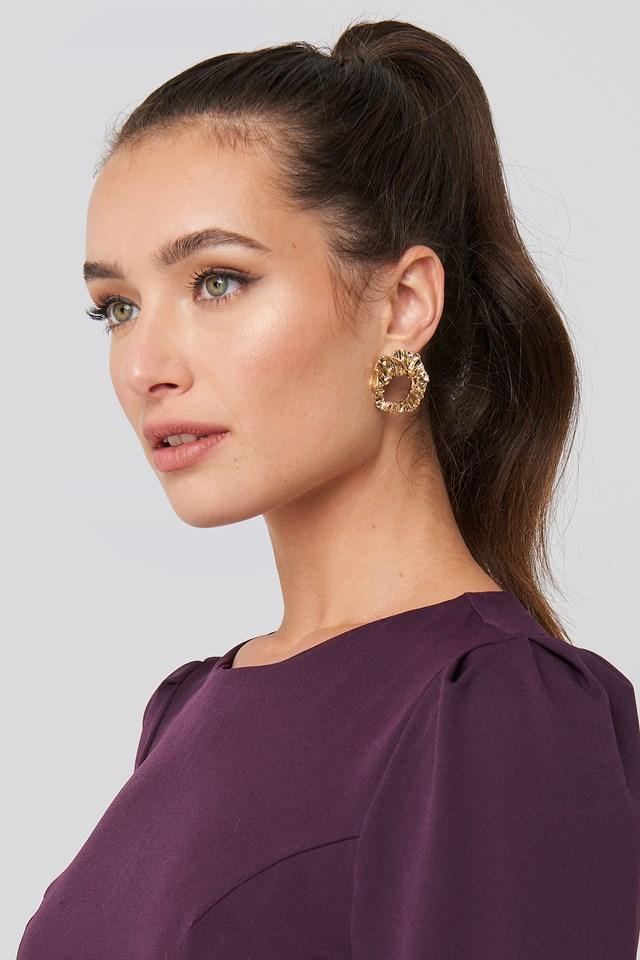 Smashed Hoop Earrings NA-KD Accessories