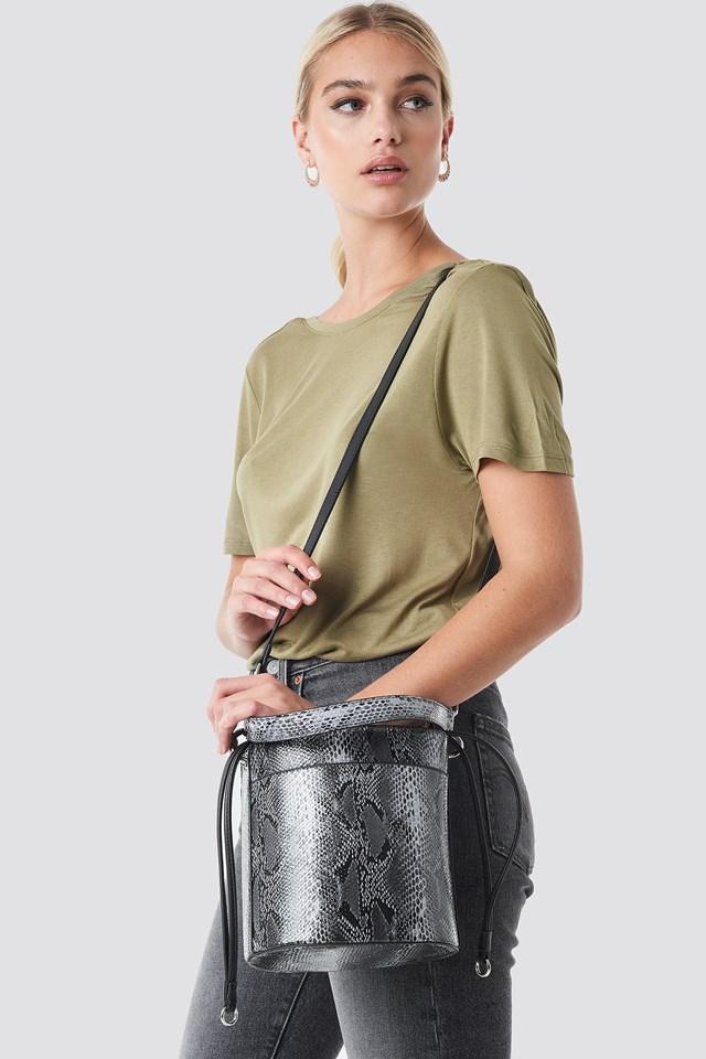 Snake Bucket Bag White