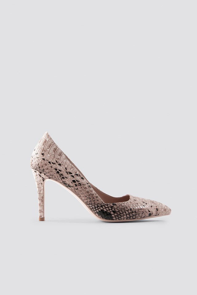 Snake Classy Pointy Pumps NA-KD Shoes