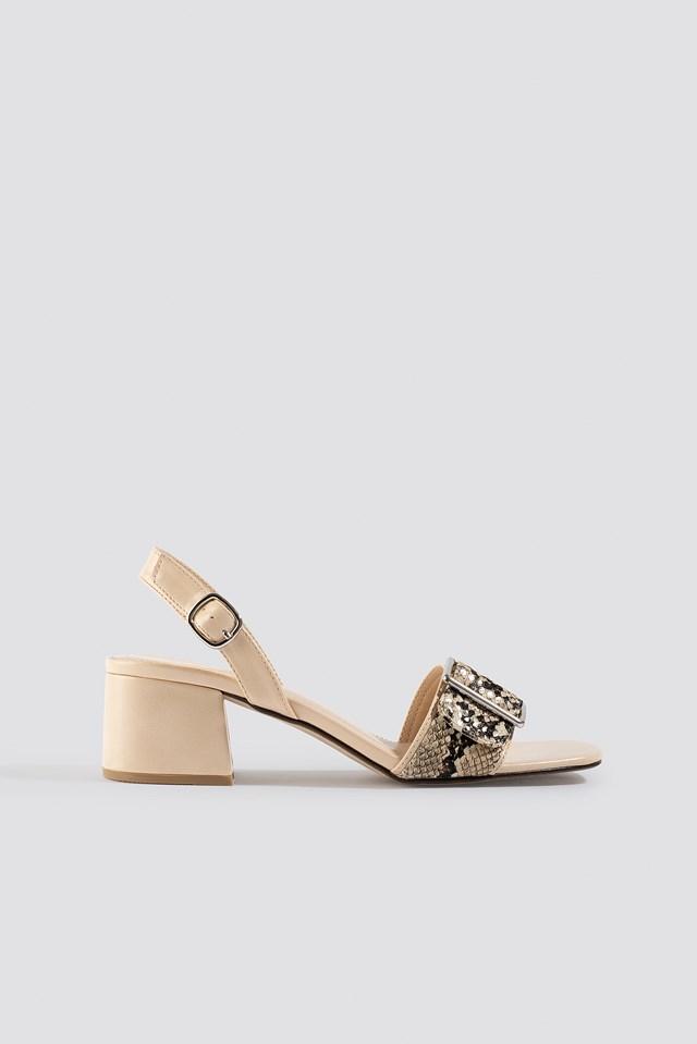 Snake Detail Buckle Sandals NA-KD Shoes