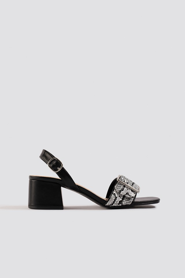 Snake Detail Buckle Sandals NA-KD Shoes