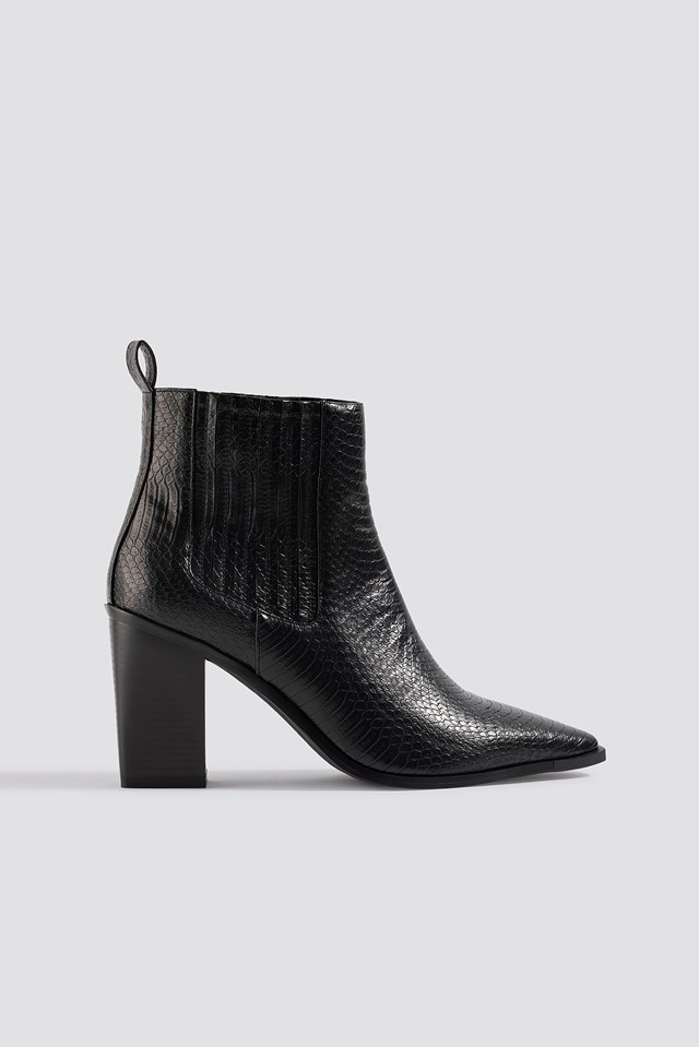 Snake Pointy Western Boots NA-KD Shoes