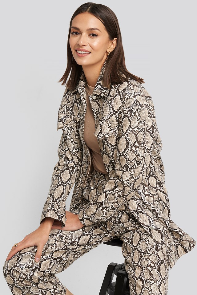 Snake Printed Shirt Jacket Print