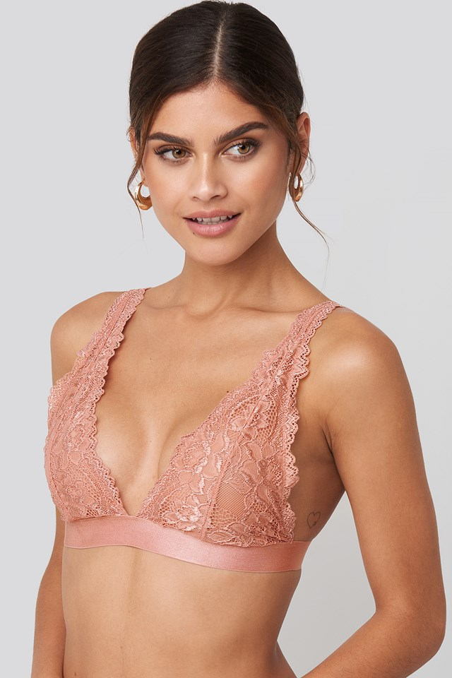 Soft Lace Bra Pink Umber