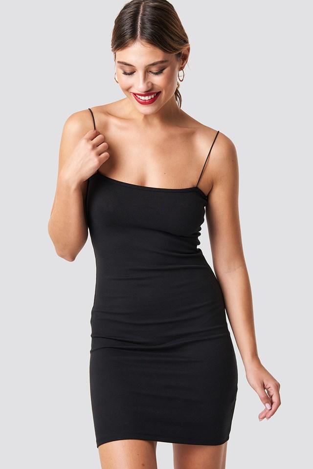 Spaghetti Strap Dress Black