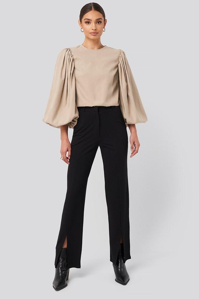 Split Front Seam Pants NA-KD Trend