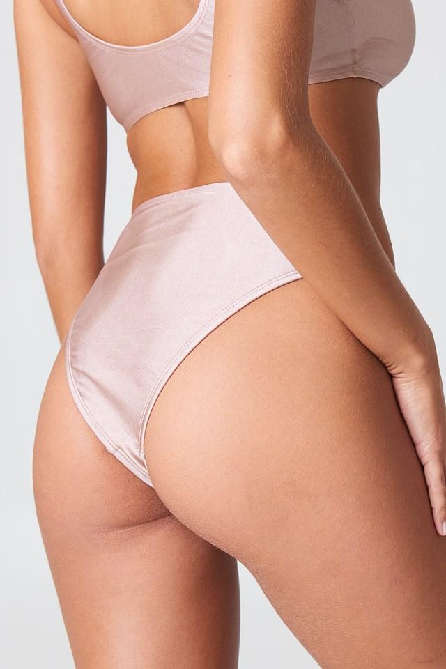 Sporty Bikini Briefs Dusty Pink