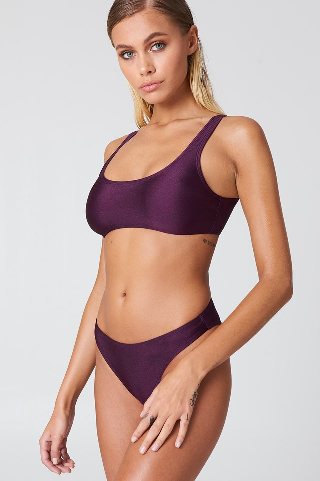 Sporty Bikini Briefs Dark Purple