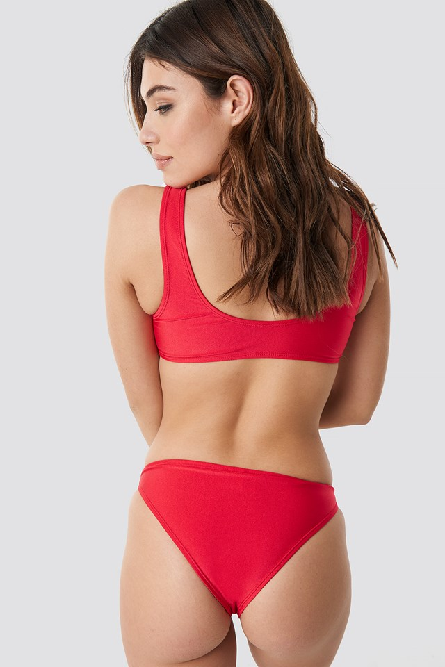 Sporty Bikini Top Red