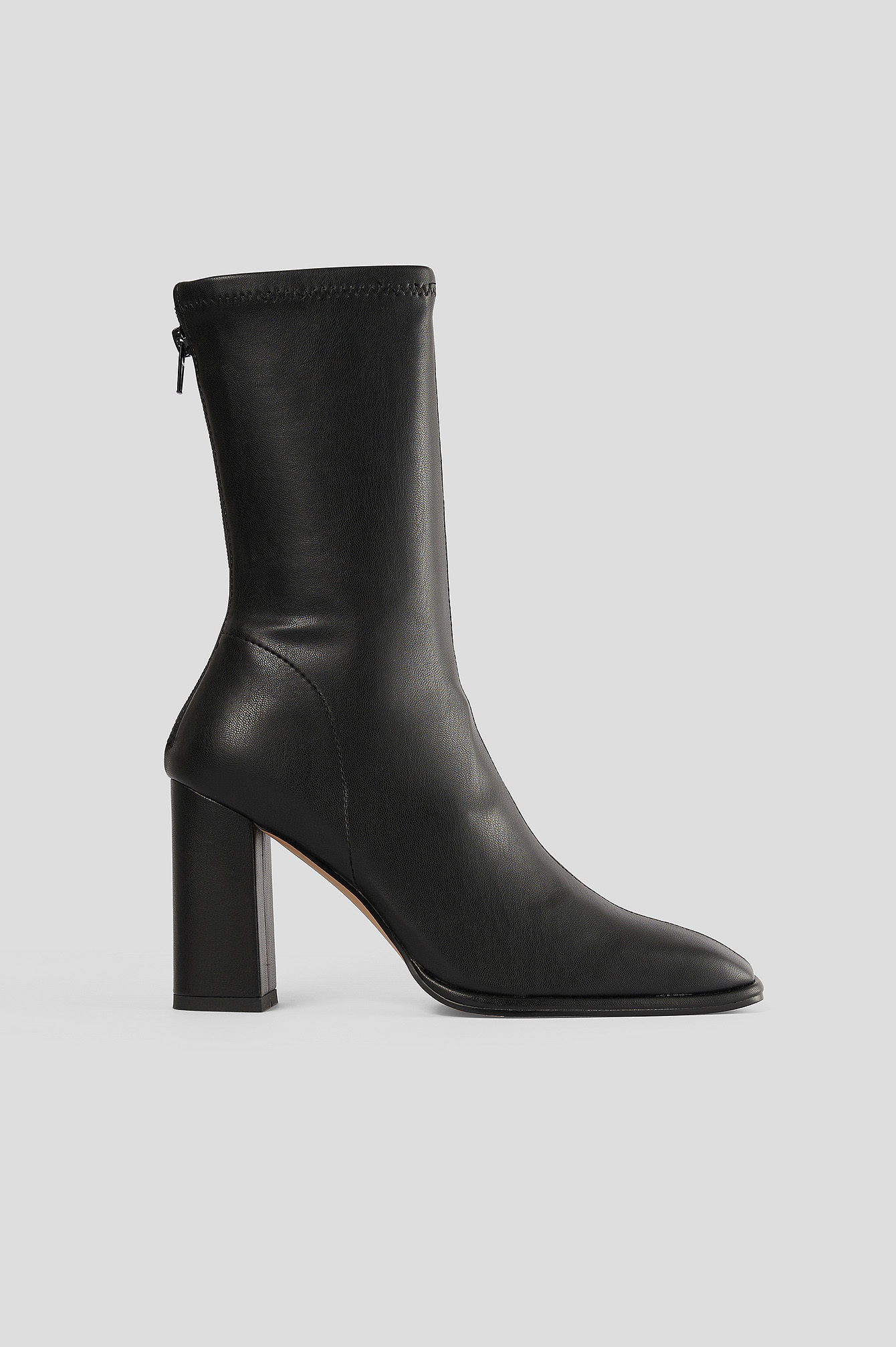 Black Squared Toe Soft Boots
