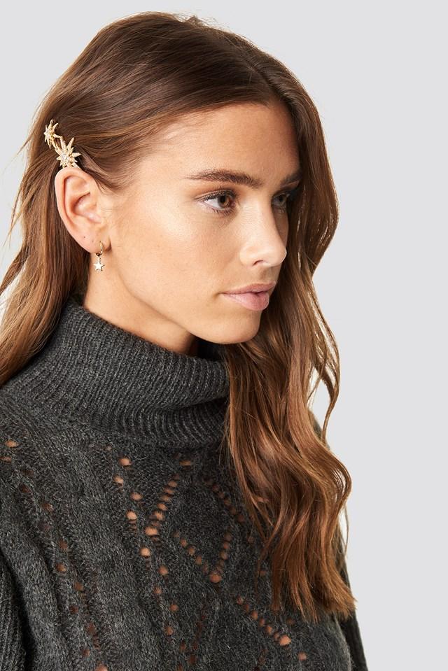 Star Hair Clip Gold