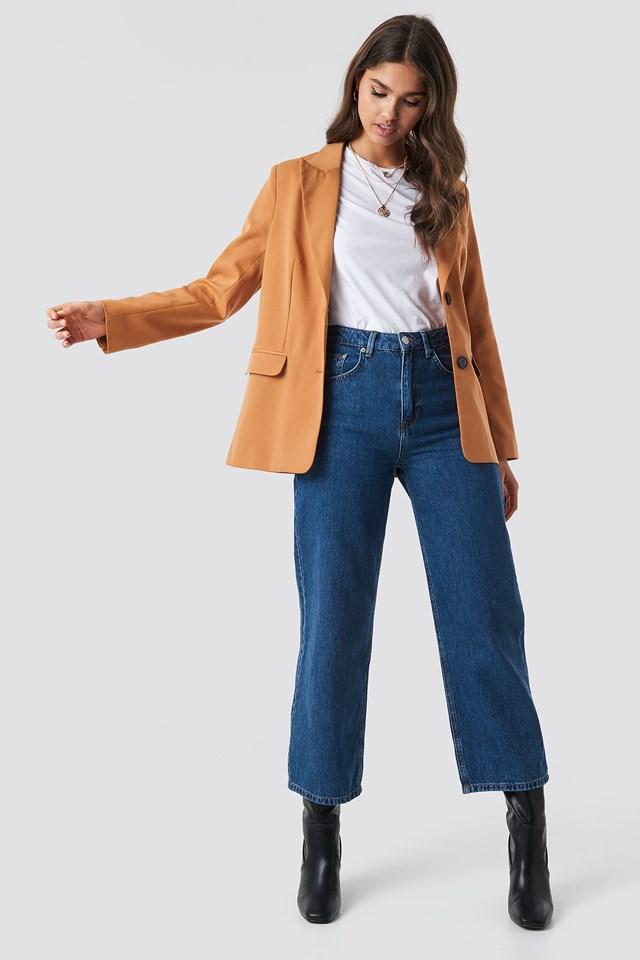 Straight Fit Blazer Rust