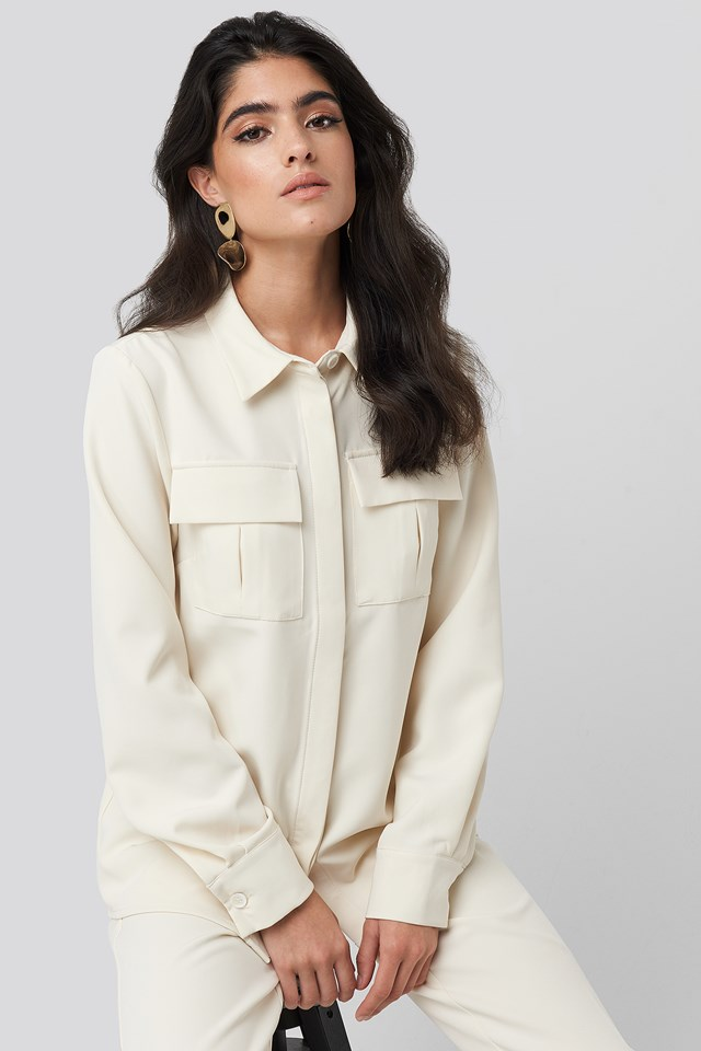 Straight Fitted Overshirt NA-KD Classic