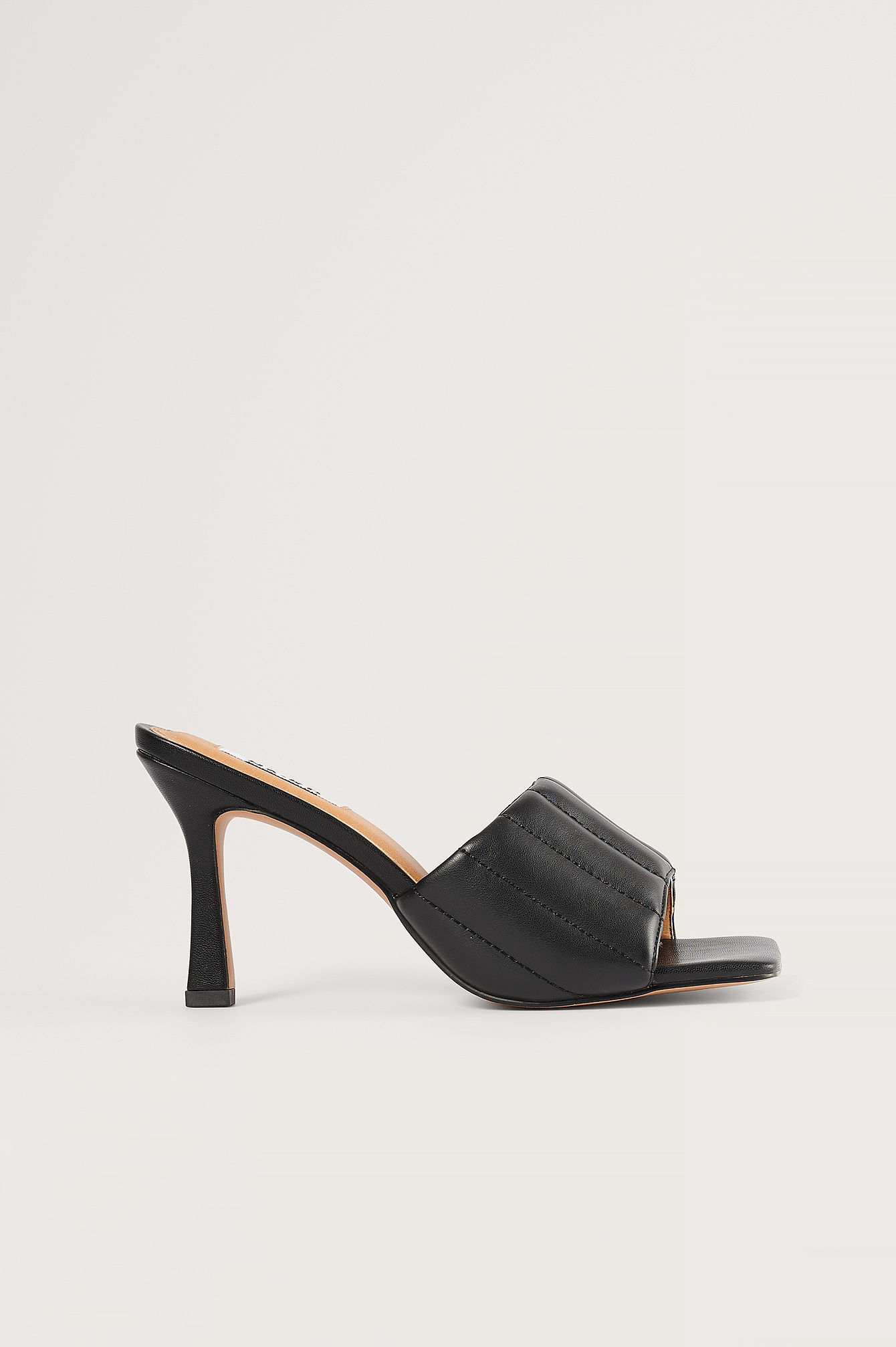 Black Straight Quilt Stilettos