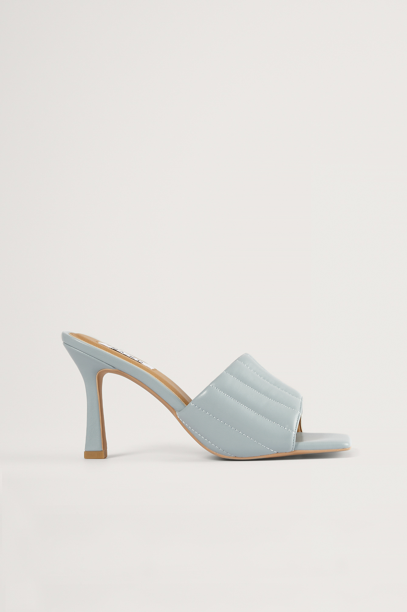 Light Blue Straight Quilt Stilettos