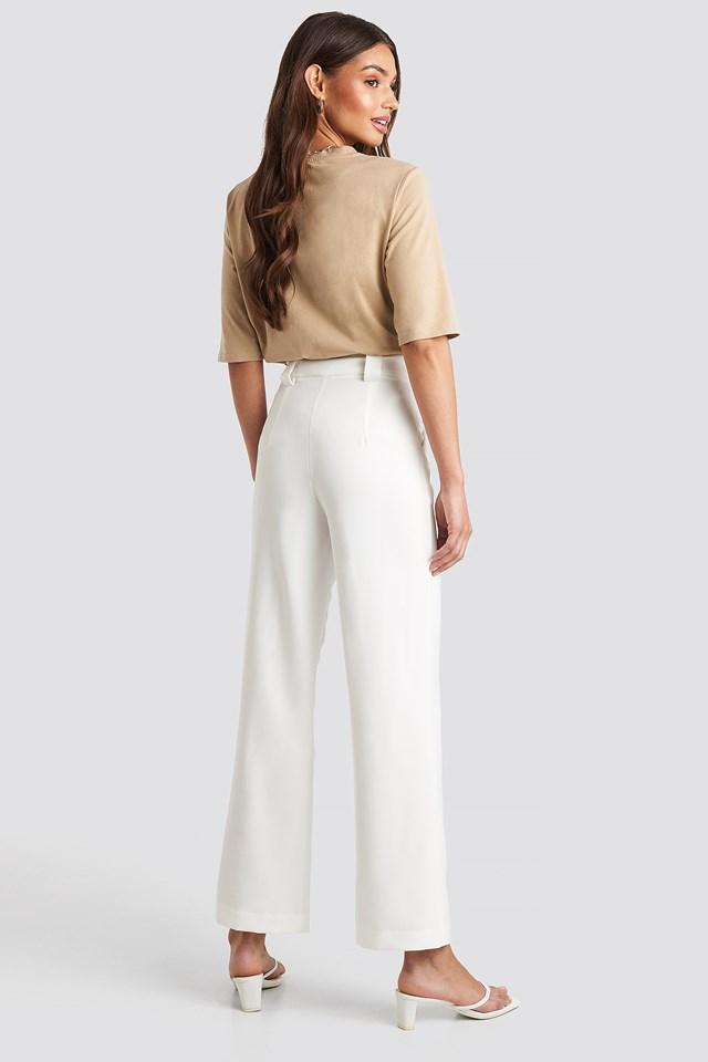 Straight Suit Pants White