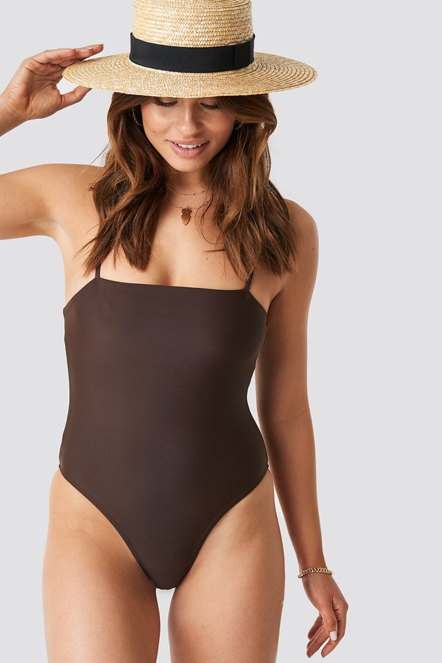 Straight Swimsuit Brown