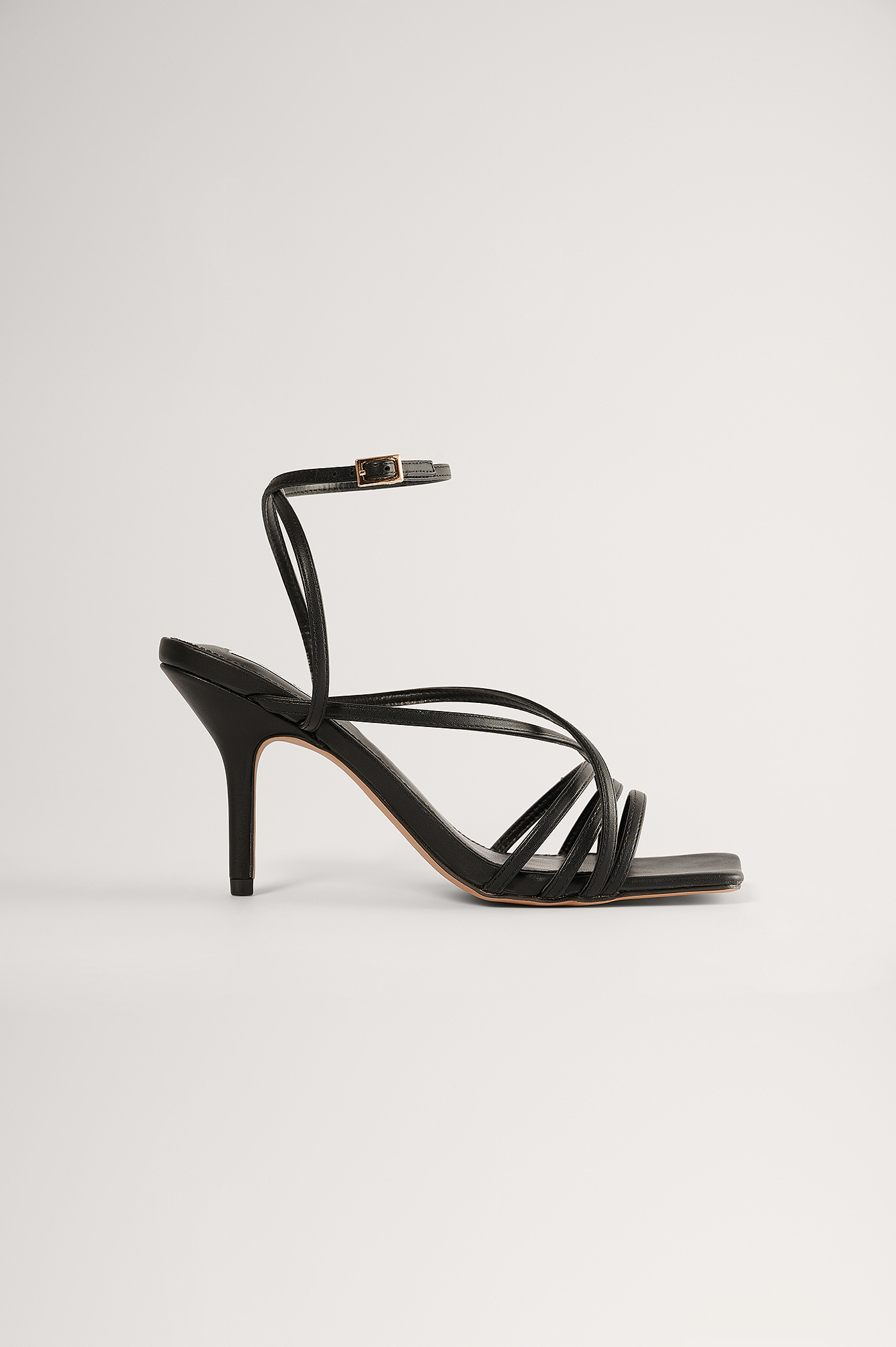 Black Strappy High Heel Sandals