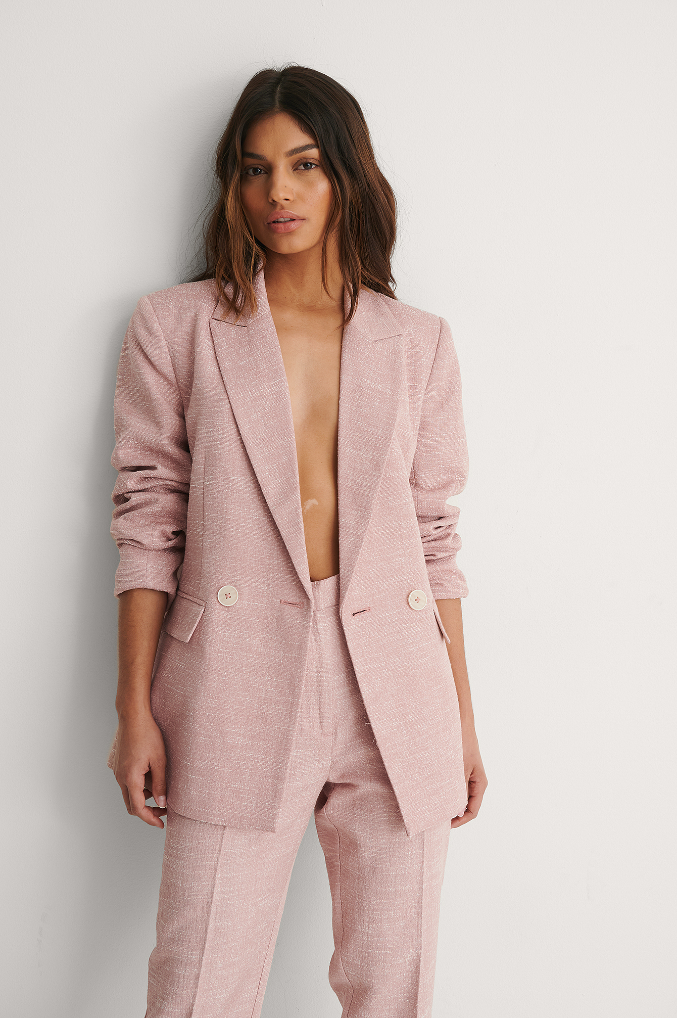 Dusty Pink Structured Blazer