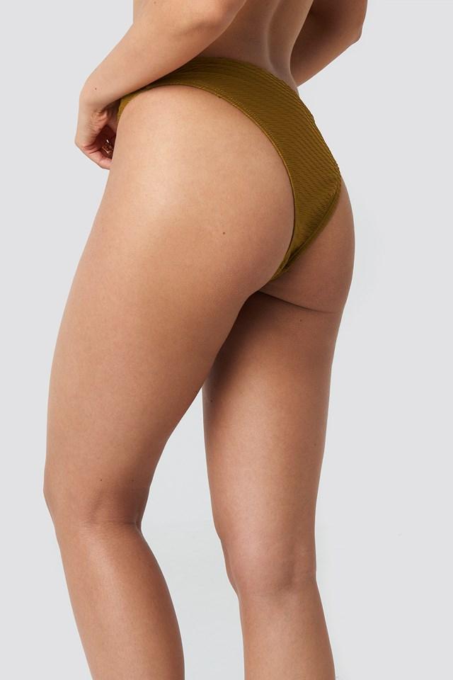Structured High Cut Bikini Panty Bronze