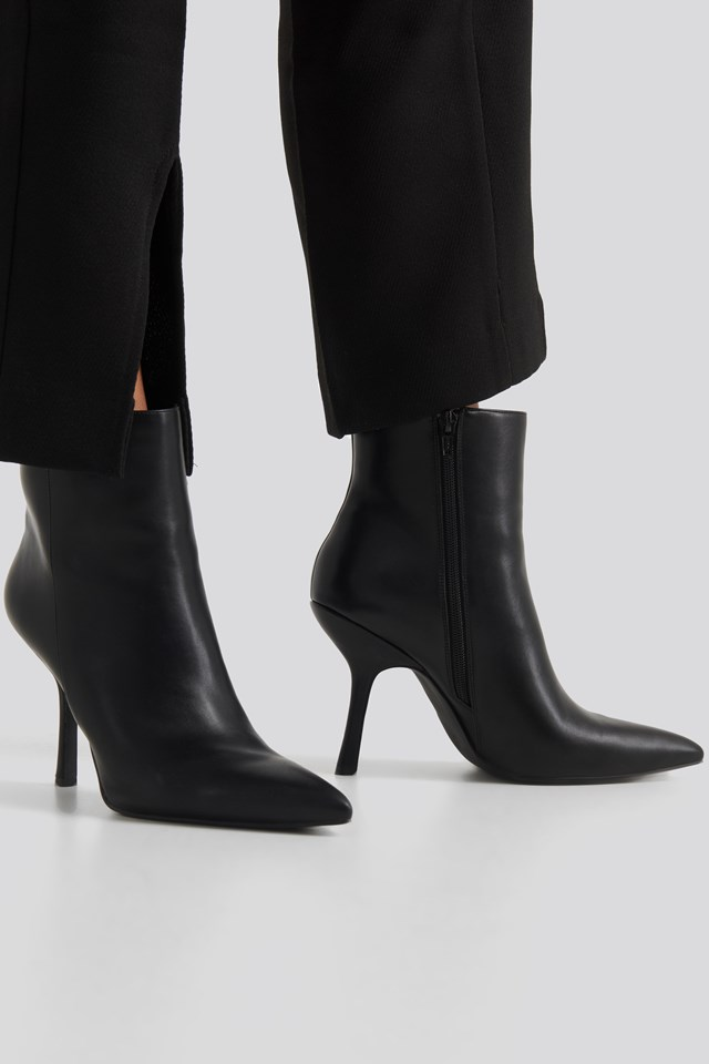 Structured Pointy Boots NA-KD Shoes