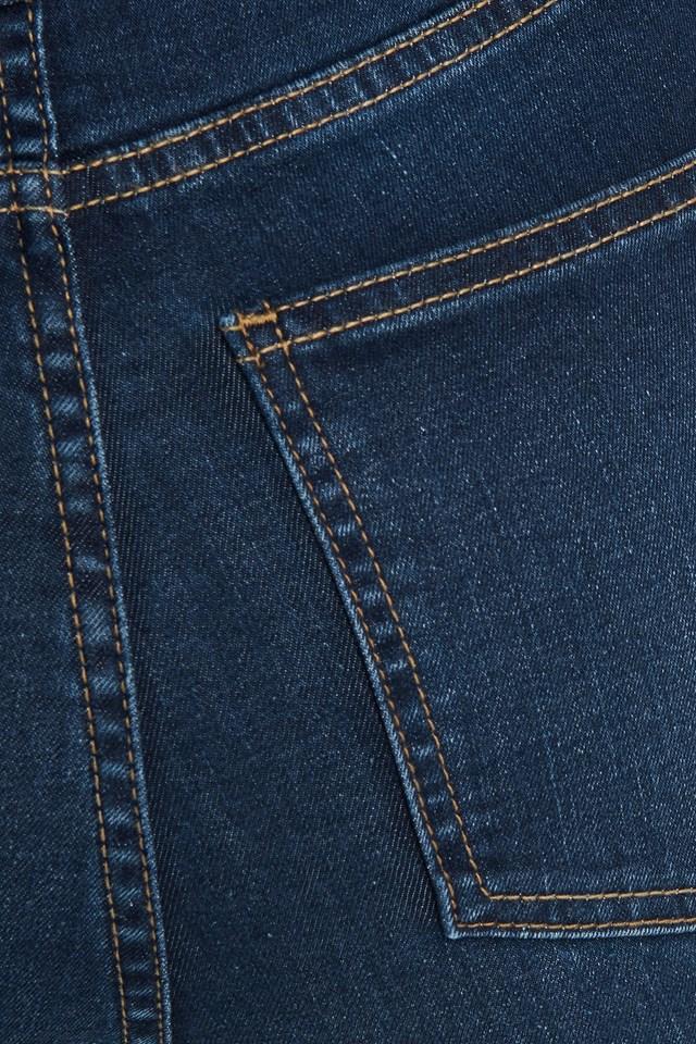 Super High Waist Skinny Jeans Dark Blue