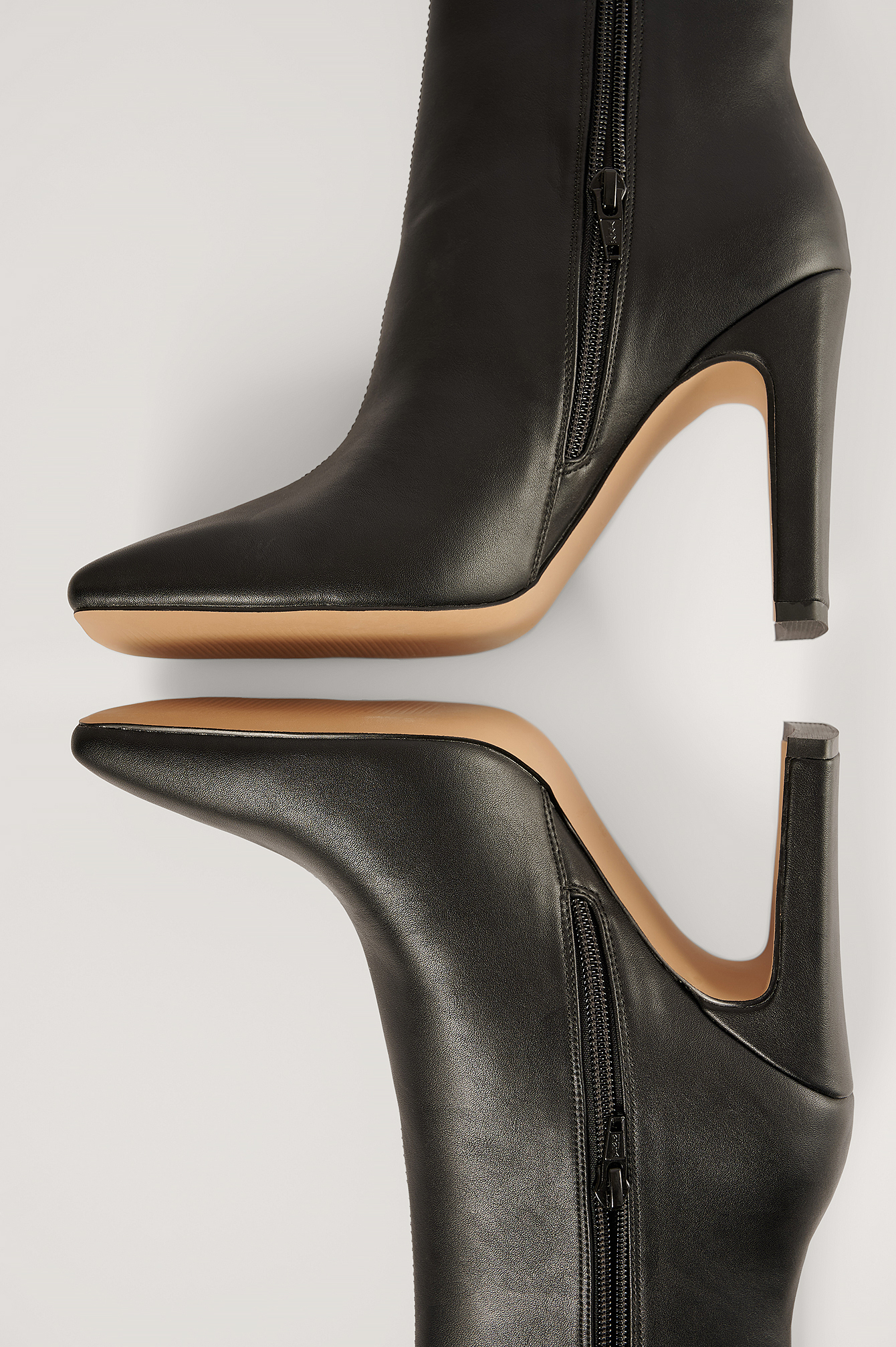 Black Super Square Ankle Boots