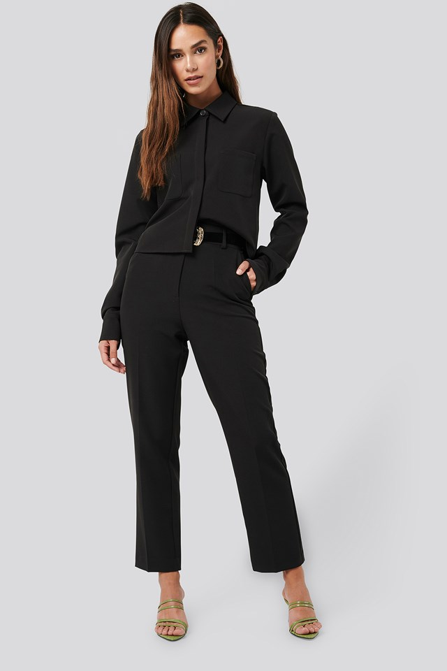 Tailored Cropped Suit Pants NA-KD Classic