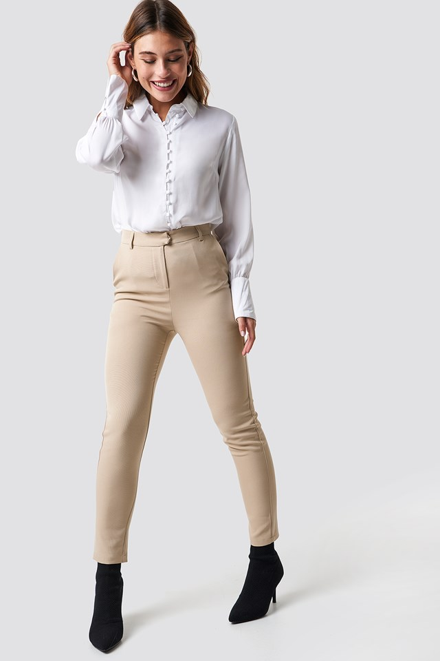 Tailored Straight Suit Pants NA-KD Classic