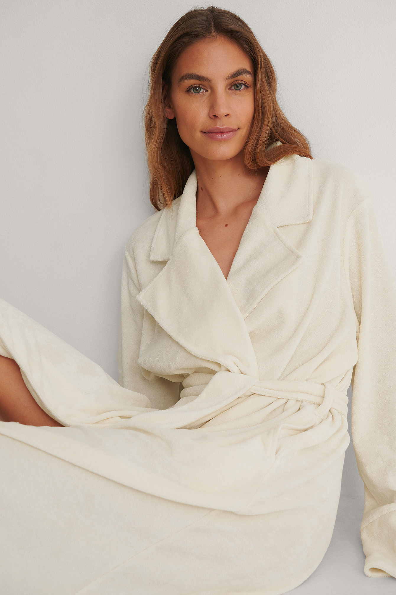 Off White Organic Terry Cloth Robe