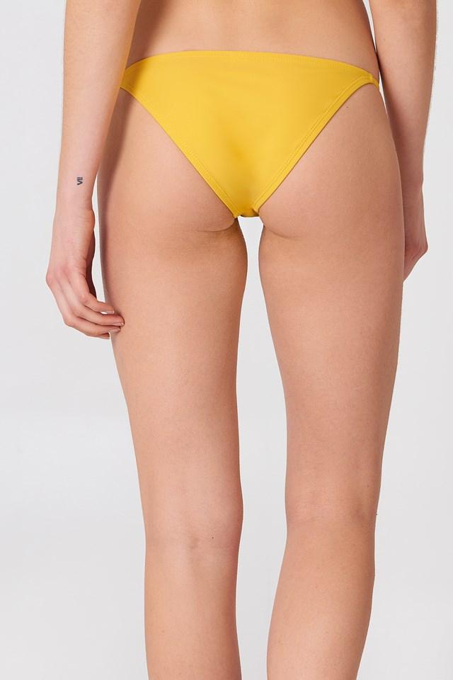 Thin Strap Bikini Briefs Yellow