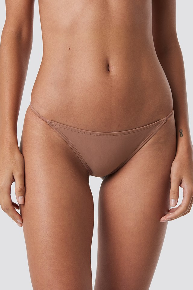 Thin Strap Bikini Briefs Dusty Dark Pink