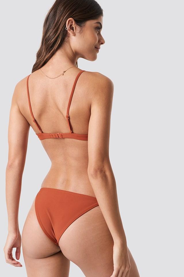 Thin Strap Bikini Briefs Rust