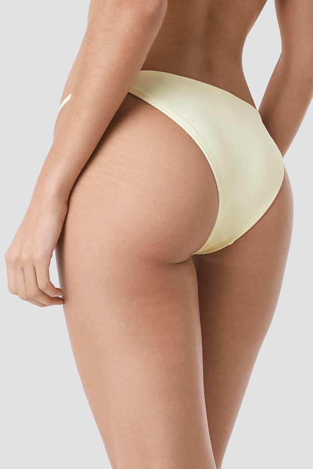 Thin Strap Bikini Briefs Cream