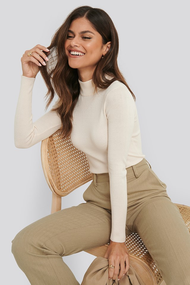 Ribbed Polo Knitted Sweater NA-KD