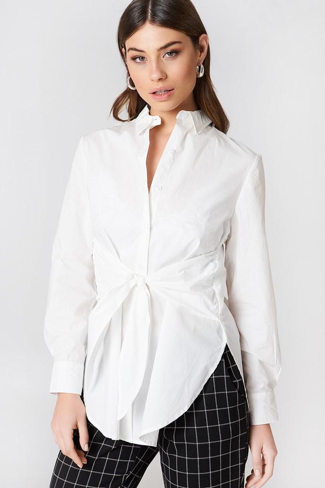 Tie Waist Long Shirt NA-KD Classic