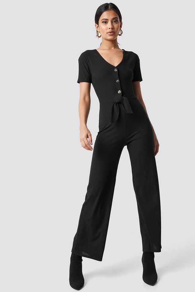 Tied Front Jumpsuit NA-KD Trend