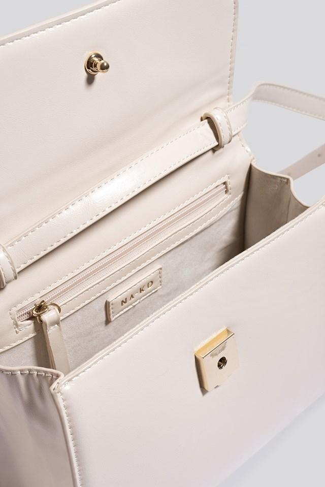 Top Handle Crossbody Bag Gloss Offwhite