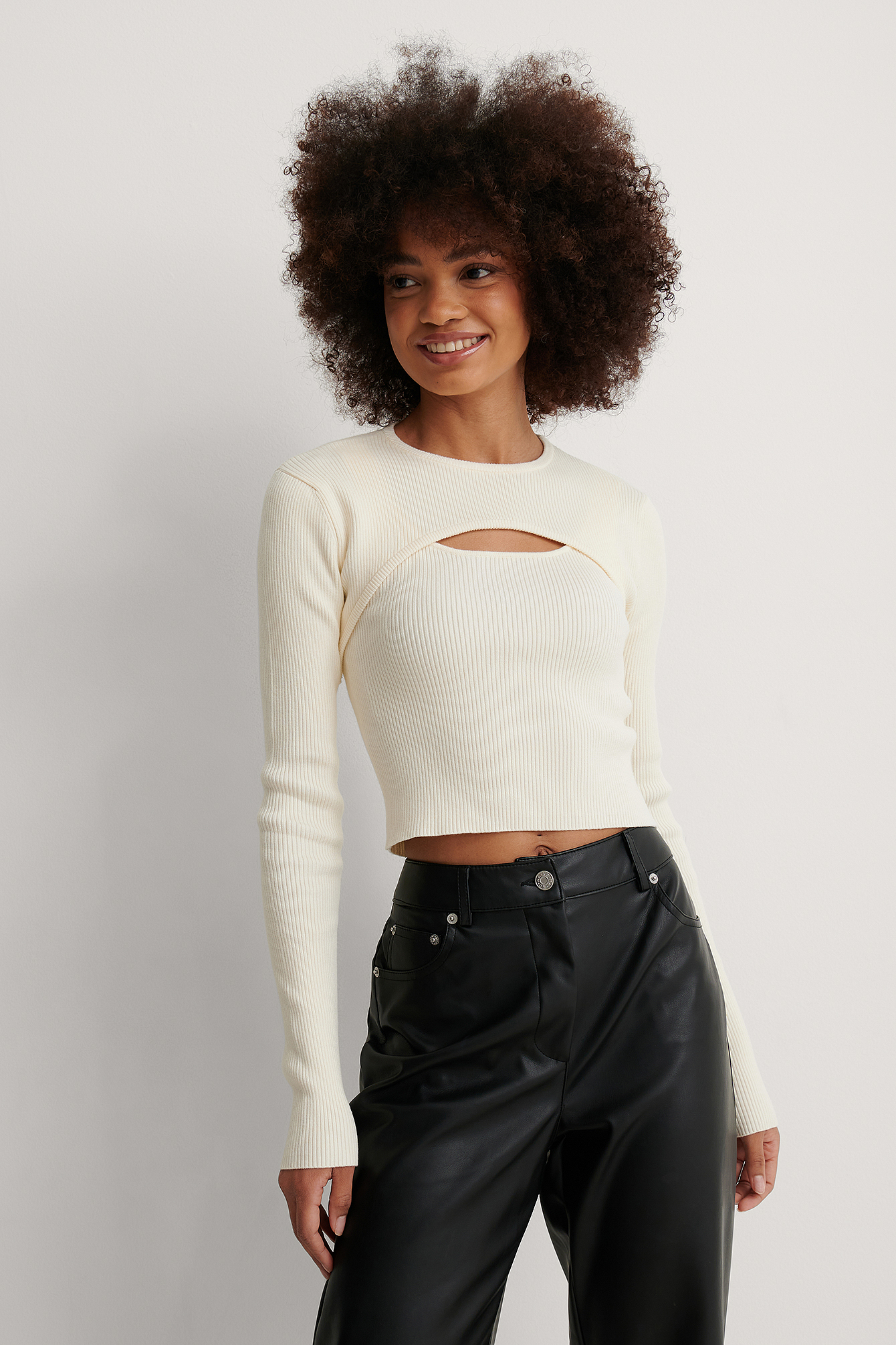White Two Piece Knitted Sweater