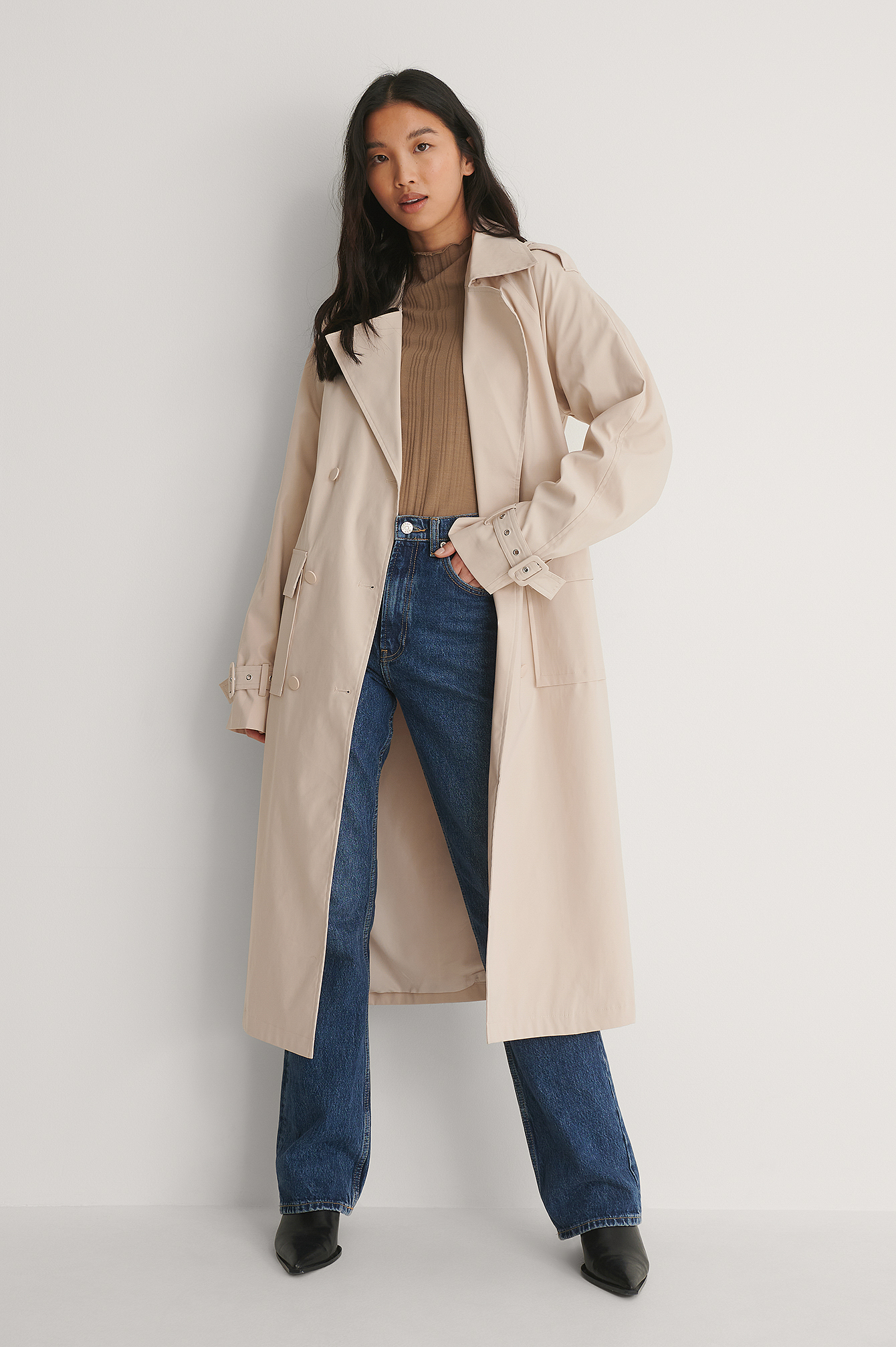 Light Beige Trench Coat