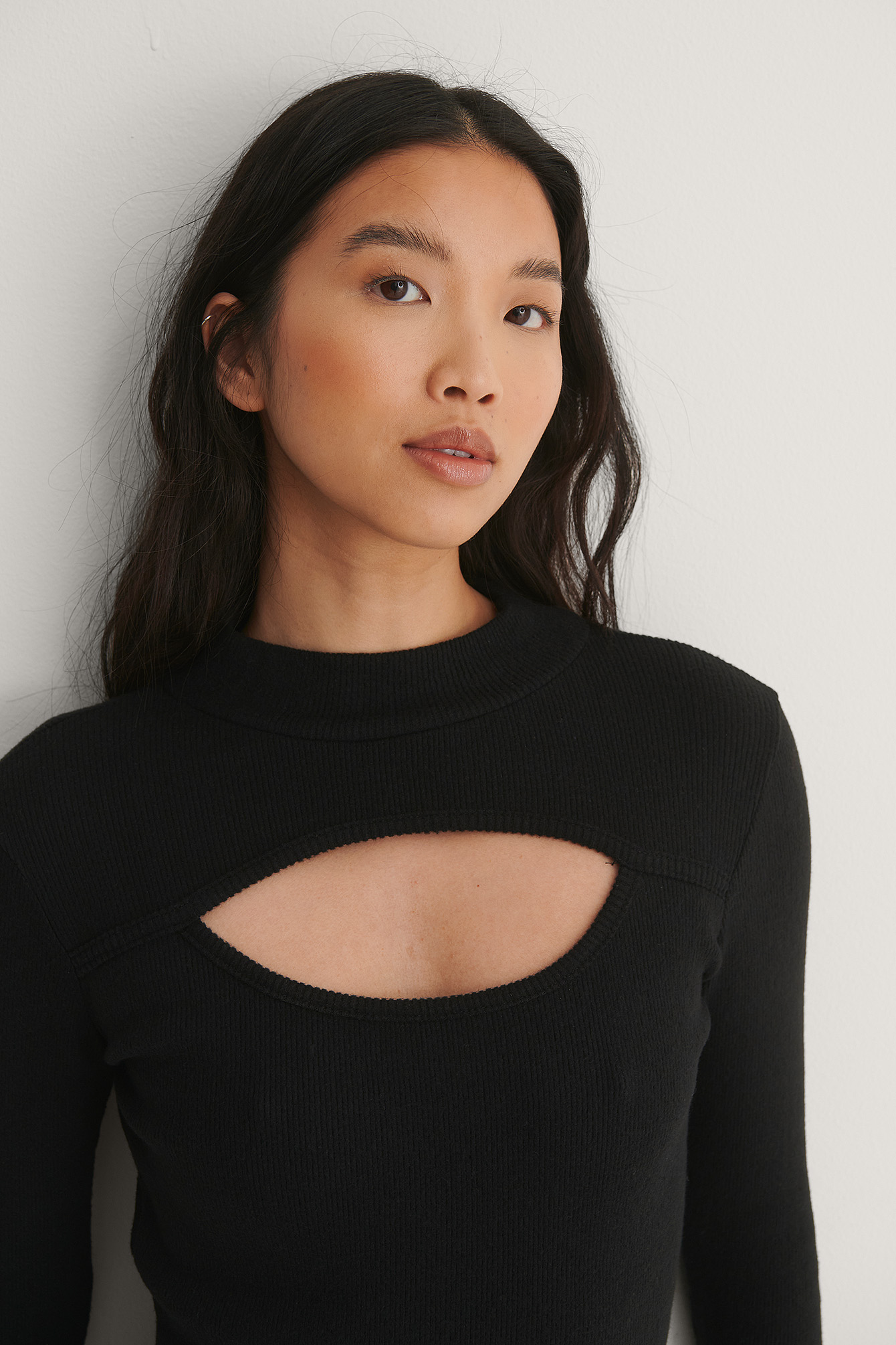 Black Turtleneck Knit Dress