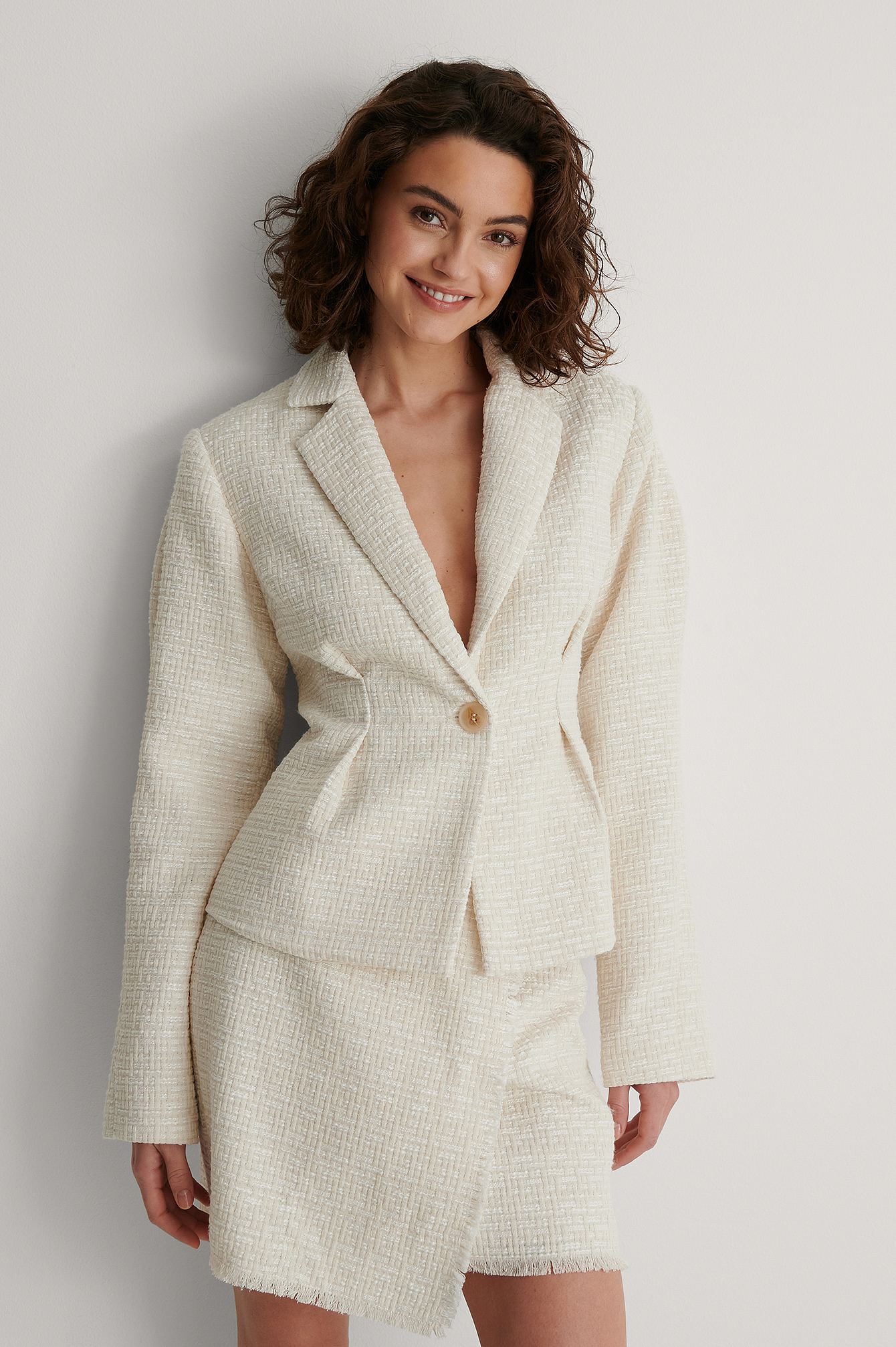 Cream Tweed Blazer