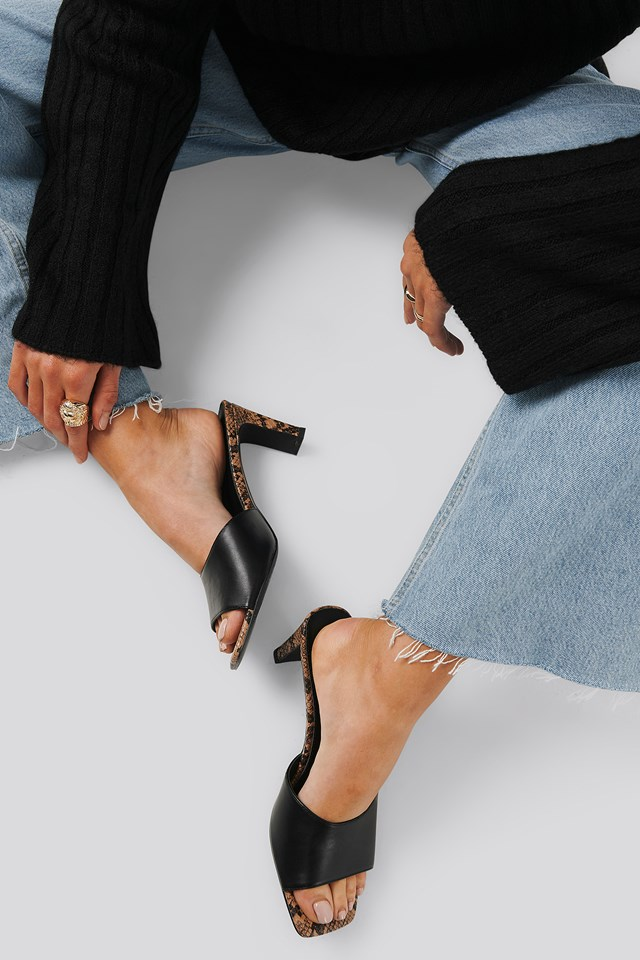 Two Toned Mules Black Snake