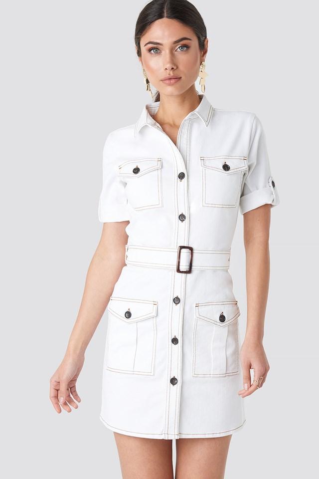 Utility Short Sleeve Dress NA-KD Trend